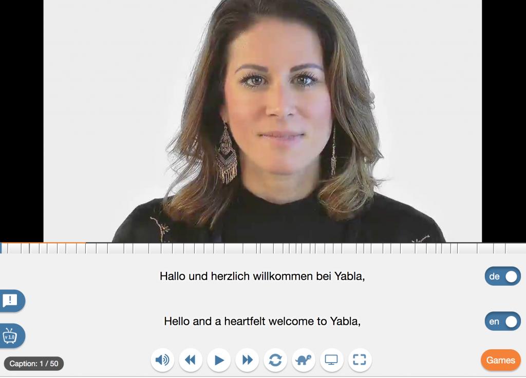 Yabla player to learn German